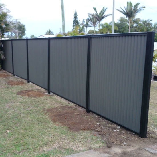 China Low Price 0 8mm Rail And Post Colorbond Metal Fence China
