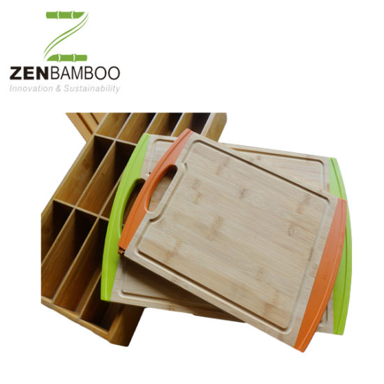 [Hot Item] Bamboo Cutting Board with Silicone Feet