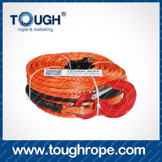 Double Drum Winch Dyneema Synthetic 4X4 Winch Rope with Hook Thimble Sleeve Packed as Full Set pictures & photos