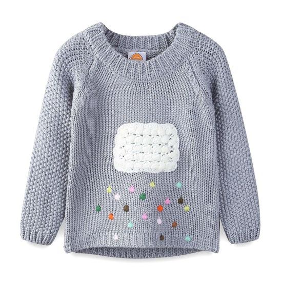 1bc4718fc 100% Arylic Girl s Sweater Colored Rain   Clound Knitwear - China ...