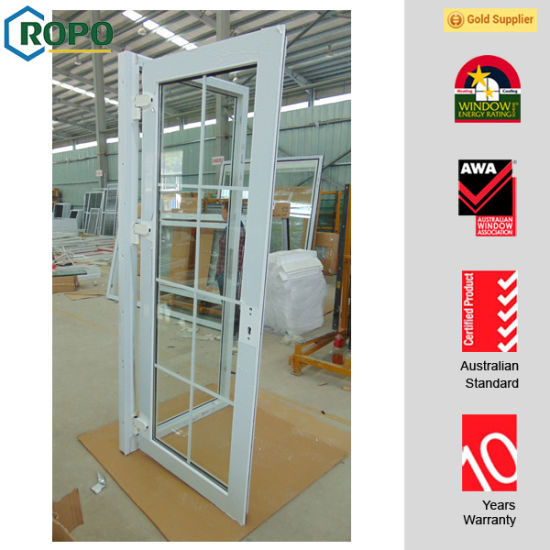China Insulated Glass French Doors With Decorative Grille China