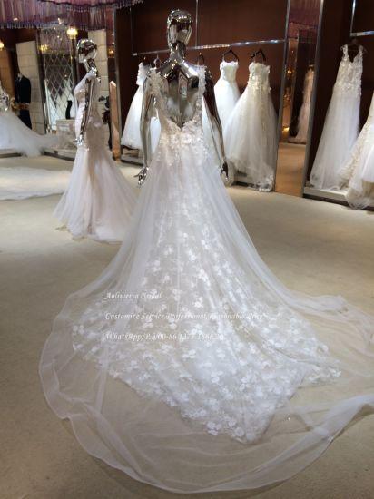 e9bb708860 China Aolanes Destination Wedding Dress with Straps - China Wedding ...