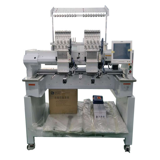 China Low Price Two Head Cap Embroidery Machine for Cap/ Flat /T-Shirt /Shoes Just Like Brother Embroidery Machine