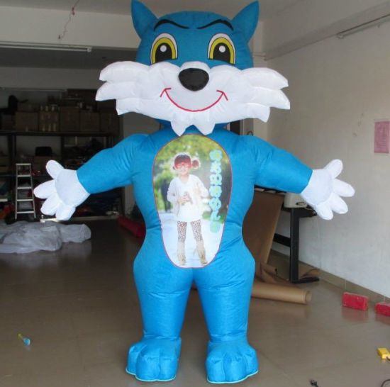 Manufacturers Selling Inflatable Advertising Products, Inflatable Cartoon Blue Cat (CT-040)