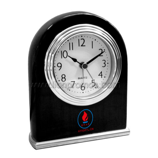PU Leather Hotel Guest Room Alarm Desk Clock pictures & photos