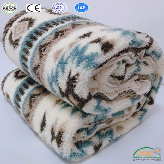 China Large Warm Thick Sherpa Throw Fuzzy Blanket All Season ...