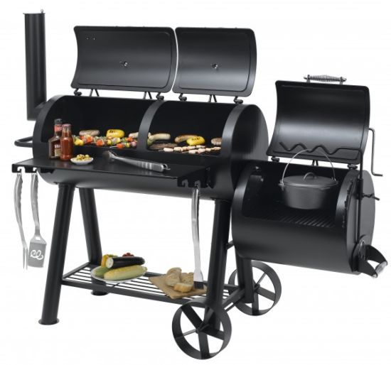 German Outdoor Heavy Duty Charcoal BBQ Grill & Smoker