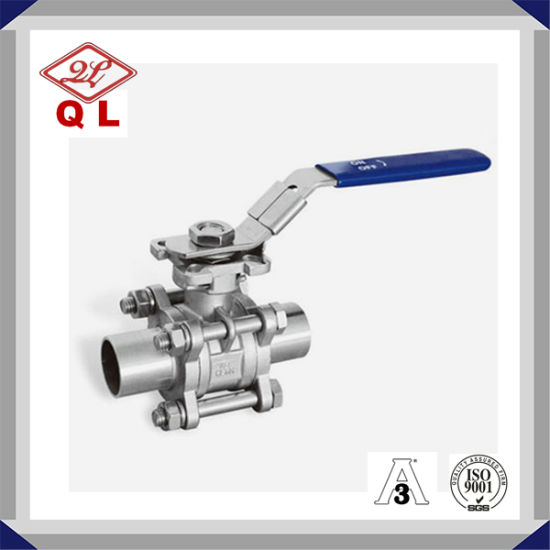 Stainless Steel Three Piece with Lock Ball Valve pictures & photos