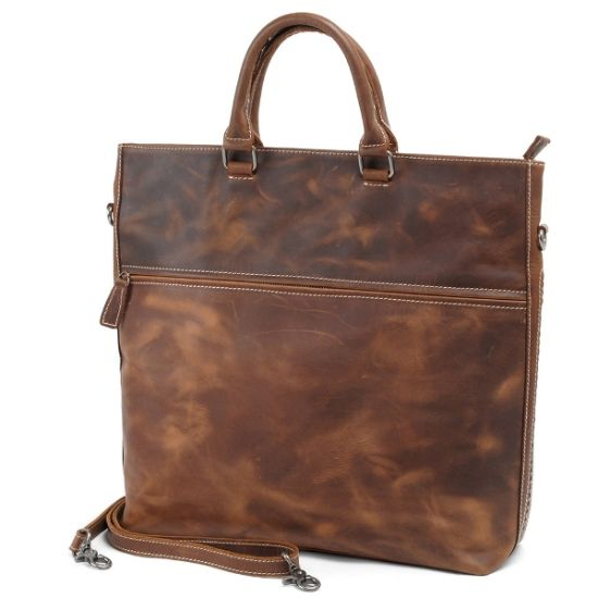 Women′s Genuine Leather Tote Shoulder Bags with Soft Handle (RS-6003) pictures & photos