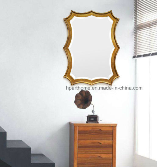Wholesale Wall Decor Metal and MDF Framed Antique Gold Mirror