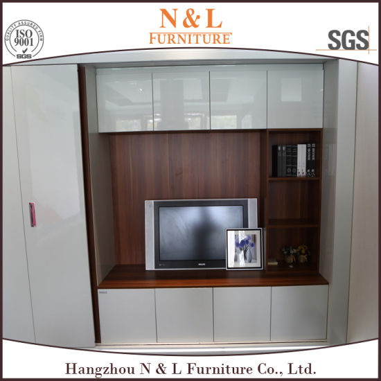 Bedroom Sliding Clothes Cabinet MDF Wardrobe pictures & photos