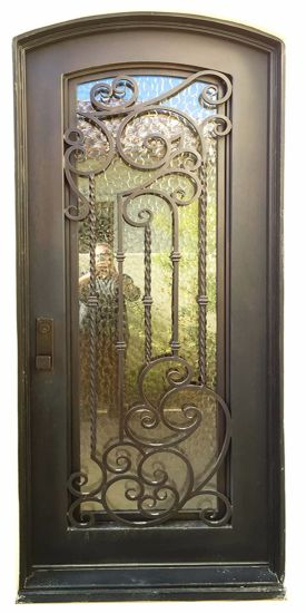 China Modern Single Wrought Iron Front Door With Long Warranty