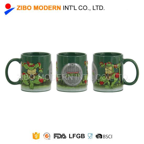 Wholesale Logo Decal Customized Embossed Coffee Mug with Gift Box