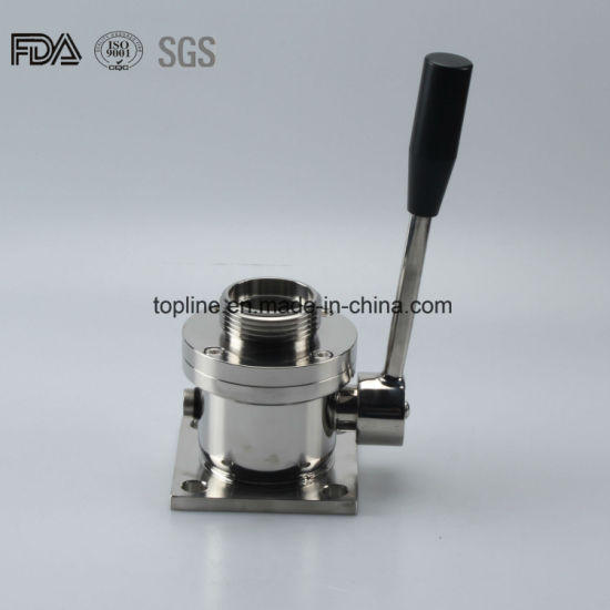 Sanitary Stainless Steel Ball Valve with Flange and Male End