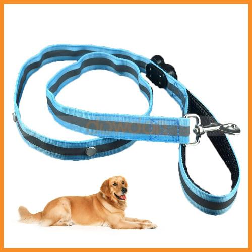 Pet Dog Puppy LED Flashing Leash Rope Luminous Safety Traction