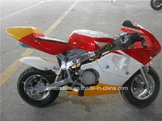 China Aluminum Pull Start 49CC Pocket Bike with Key (ET-PR204