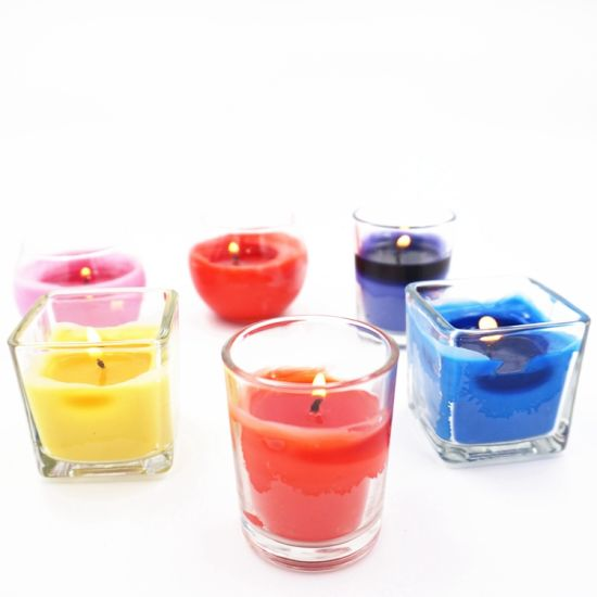 c0b3dbecfc Small Square Shape Tea Light Glass Candle Holders for Wedding Decoration
