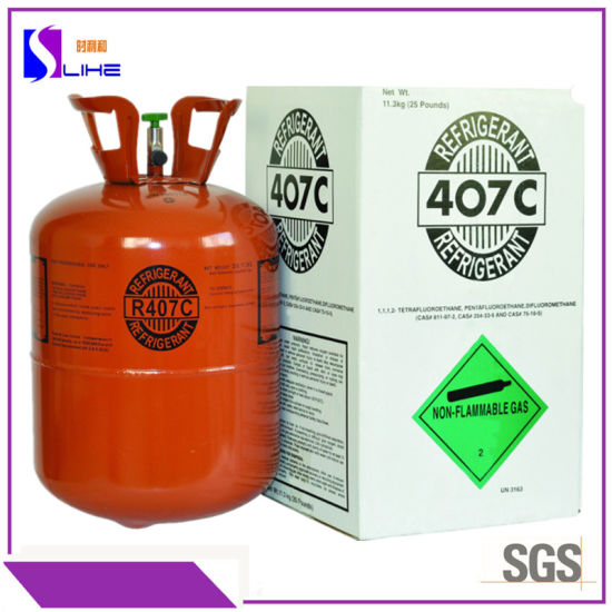 11.3kg Commercial Air-Conditioning Gas Freon R407c Refrigerant