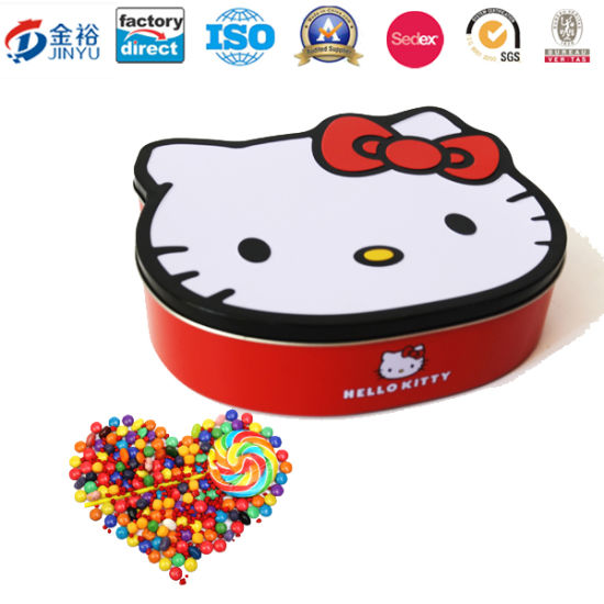 Kitty Design Stackable Display Tin Box with Removable Lid Jy-Wd-2015121402 pictures & photos