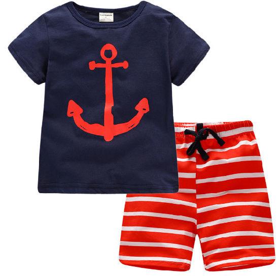 Boy's Pyjamas with 100% Cotton Short T-Shirt & Shorts