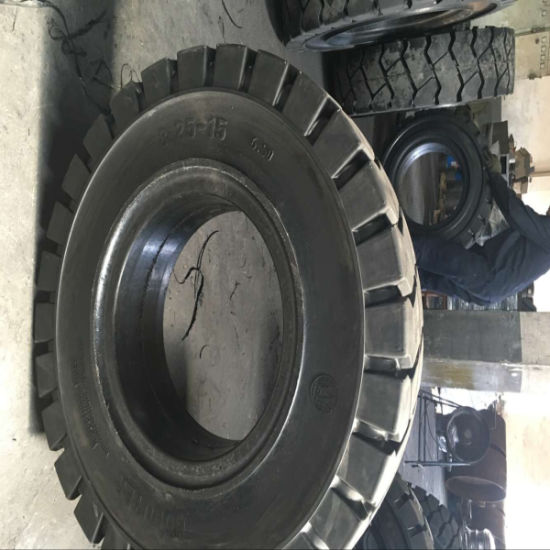 Forklift Tire Solid Tire Tire 8.25-15 700-12 12.00-20 pictures & photos