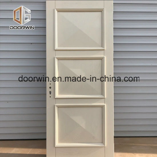 China Market Wooden Single Main Door Design White Color Door Oak