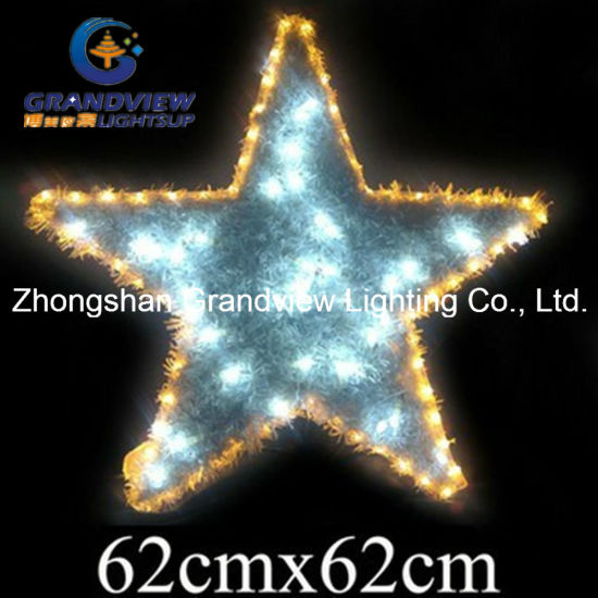 christmas rope lighting. Animated Flashing PVC Star Christmas Motif Rope Lights Lighting