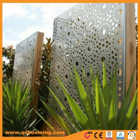 Out Door Decorative Carving Sheet Metal Garden Fence Panel