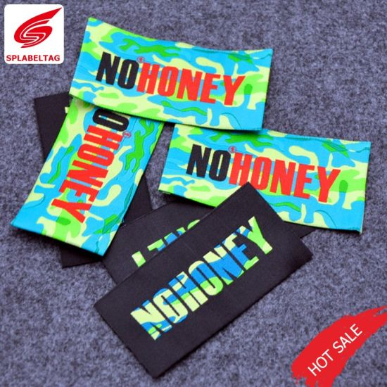 High Quality Soft Edges Colorful Garment Main Woven Label