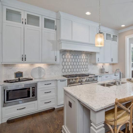 White Shaker Wood Kitchen Cabinet