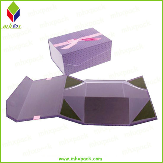 Custom Design Collapsible Magnetic Lid Paper Packaging Box