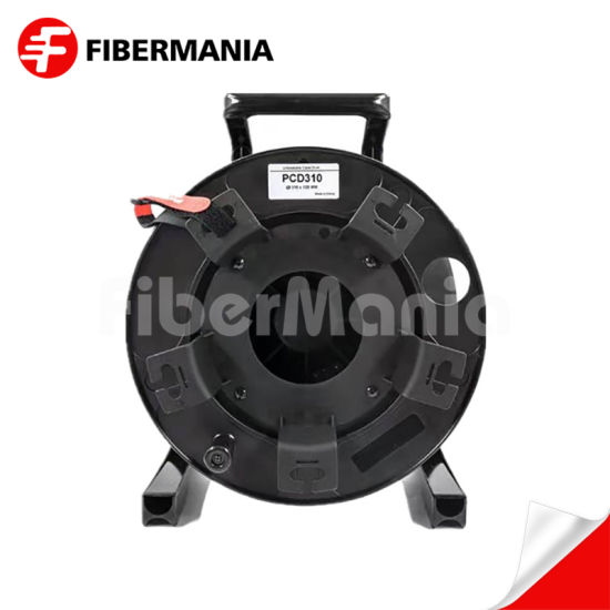 Military Tactical Fiber Optic Patch Cord with Plastic Cable Reel ORC Armored Black TPU Cable Optical Cable