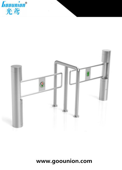 Stainless Steel Security Barrier Supermarket Entrance Access Control Turnstile Manual Swing Gate With Automatic Smart Door