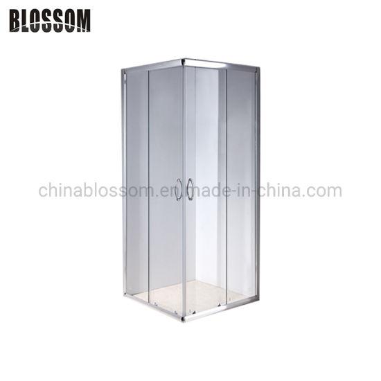 Classic Square Aluminum Frame Glass Sliding Door Shower Cabin Bathroom