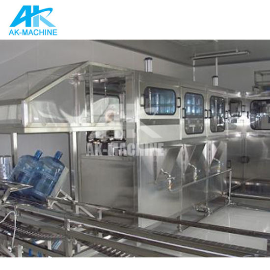 Fully Automatic Complete Production Line for Pet Barrel Water 5 Gallon Filling Machine pictures & photos