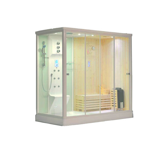 Bathroom White Color Steam Sauna Room Combined Shower