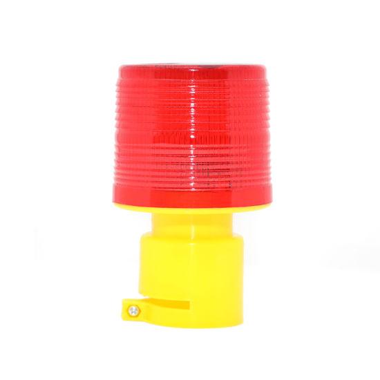 Solar Road Safety Warning Light Strobe Beacon Light Emergency Lamp