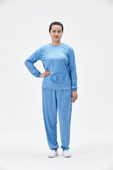 ESD Antistatic Cleanroom Underwear (protective knitted garment suit clothing) pictures & photos