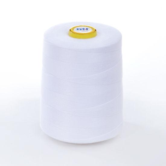 White Overlocking Sewing Machine Industrial Polyester Thread 5000 Yard