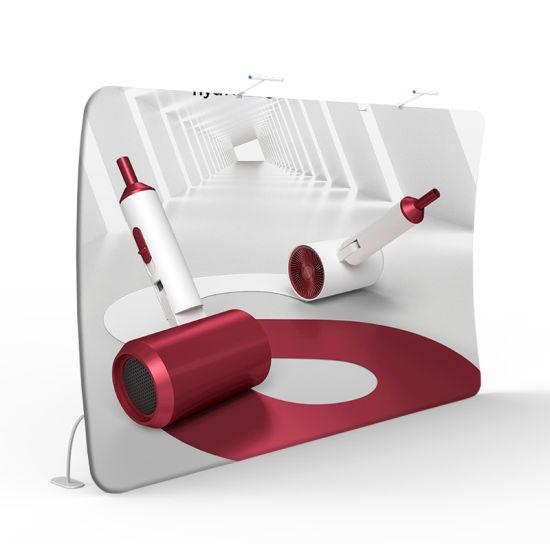 Custom Design Tension Fabric 8FT Foldable Advertising Tradeshow Portable Backdrop