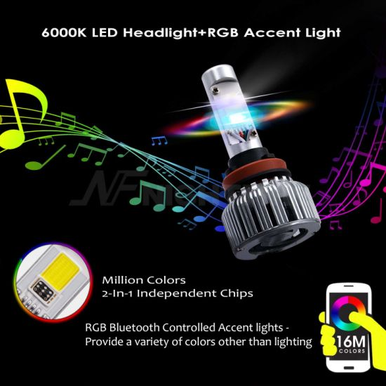 China Wholesale 2 in 1 Best White RGB 7200lm Mercedes-Benz