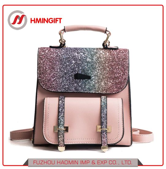 a43bbf51392af3 Wholesale 2018 New All-Match Girl Student Backpack Sequin Travel Bag Lady  Fashion Shoulder Bag ...