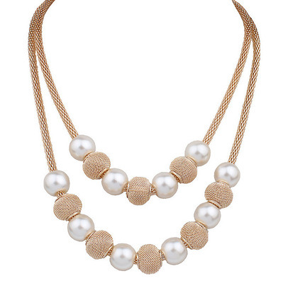 Color Multilayer Choker Pearl Necklace
