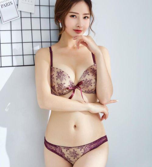 China Factory Price Sexy Satin Lady Bra and Panty Set - China Bra ... a6506312a