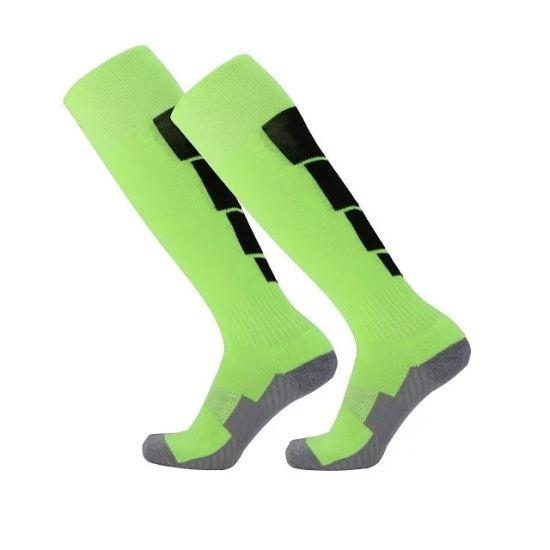20e4c8330fb9 China Custom Design Mens Knee High Nylon Football Soccer Socks ...