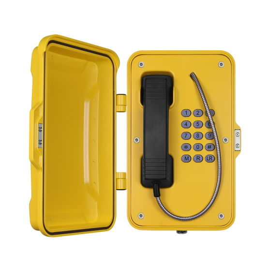 Industrial Weatherproof Telephone PSTN/SIP Outdoor IP66 Waterproof Tunnel Telephones