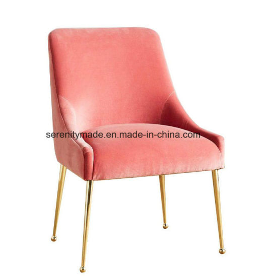 China Modern Style Living Room Velvet Upholstered Side Chair with ...