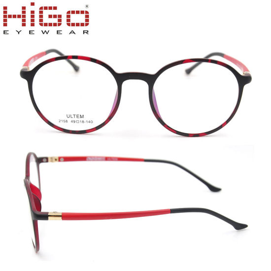 Round Shape Frame Ultem Eywear Glasses Spectacle in Stock