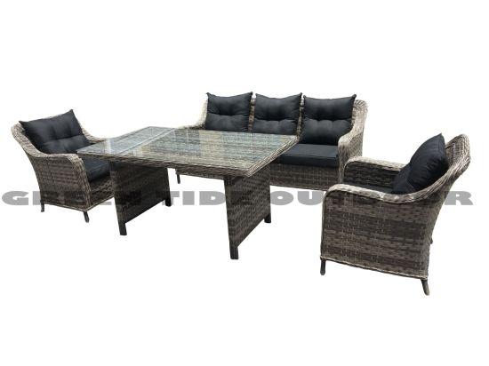 Wholesale Outdoor Garden Rattan Wicker Patio Furniture High Table Sofa Set 4PCS
