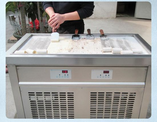 Single Big Square Pan Thai Roll Ice Cream Machine pictures & photos